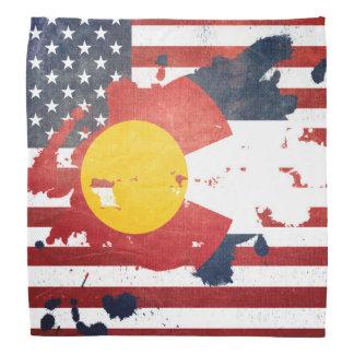 A Splash of Colorado   Weathered State Flag Bandana