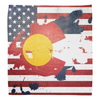 A Splash of Colorado | Weathered State Flag Bandanna