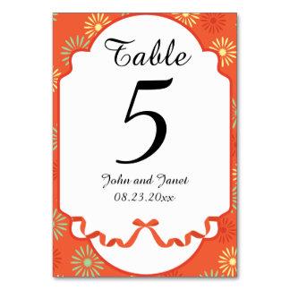 A Splash Of Floral   Orange   Wedding Table Cards
