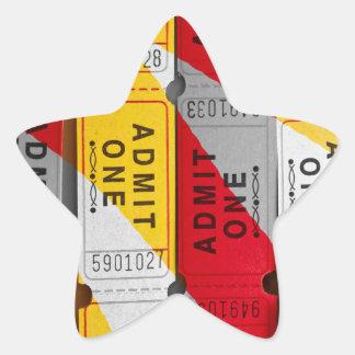 A Splash of Tickets Star Sticker