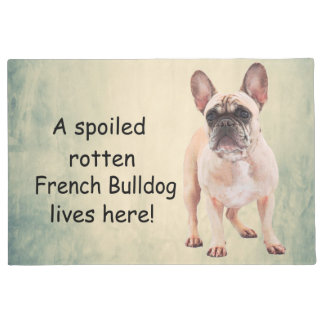 A Spoiled Rotten French Bulldog Lives here Doormat