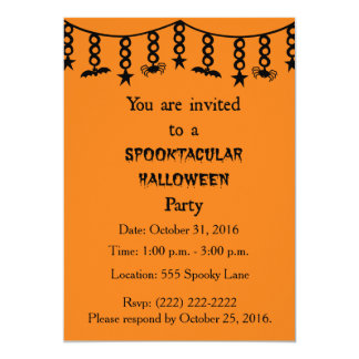 A Spooktacular Halloween Party Invitation
