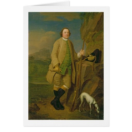 A Sportsman, 1752 (oil on canvas) Cards