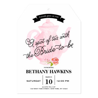 A Spot of Tea with the Bride-to-be | Bridal Shower Card