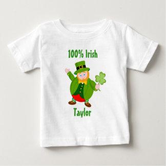 A St.Patrick's Day leprechaun holding a shamrock, Baby T-Shirt