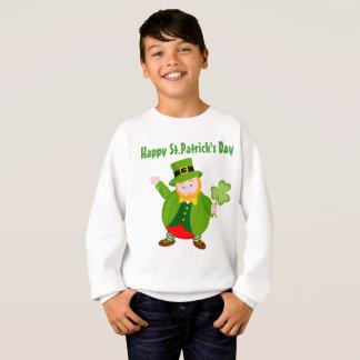 A St. Patrick's Day leprechaun holding a shamrock, Sweatshirt