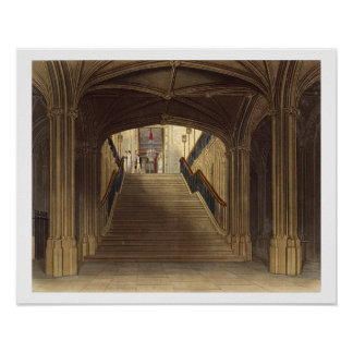 A Staircase, Windsor Castle, from 'Royal Residence Poster