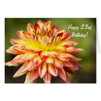 A Stand Out Dahlia Happy 23rd Birthday Card