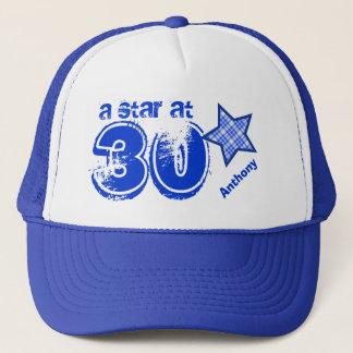 A Star at Thirty Custom Name V25 Trucker Hat