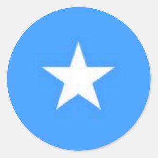 A STAR CLASSIC ROUND STICKER