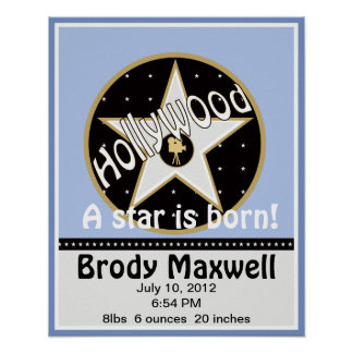 A Star is Born Hollywood Star Name Wall Art Poster