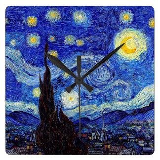 A Starry Night  Inspired Wall Clocks