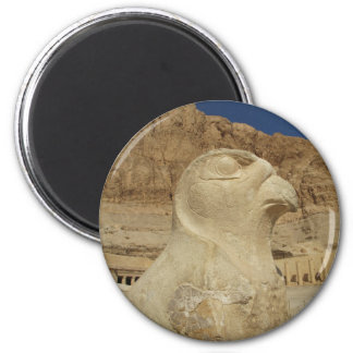 A statue of Horus as a falcon at Hatshepsut temple Magnet