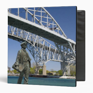A statue of Thomas Edison by local artist Mino 3 Ring Binders