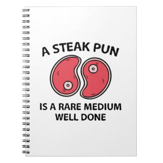 A Steak Pun Notebooks