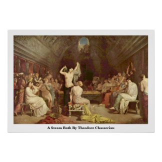 A Steam Bath By Theodore Chasseriau Poster