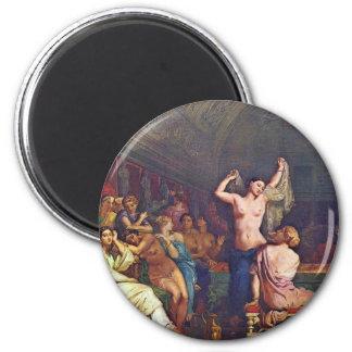 A Steam Bath Details By Chassériau Théodore 2 Inch Round Magnet