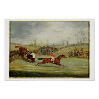 A Steeplechase, Another Hedge (oil on canvas) Poster