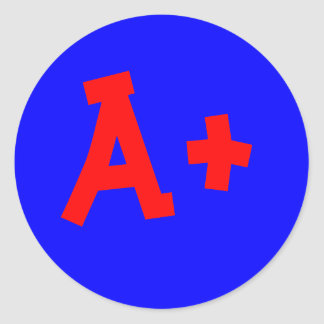 A+ sticker
