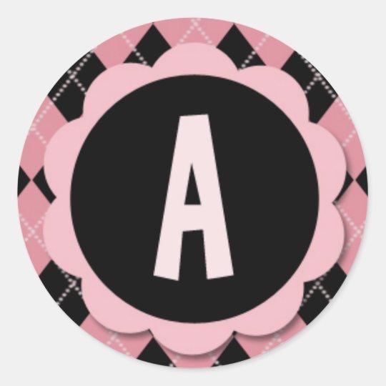 A STICKERS - Retro Argyle Monogram