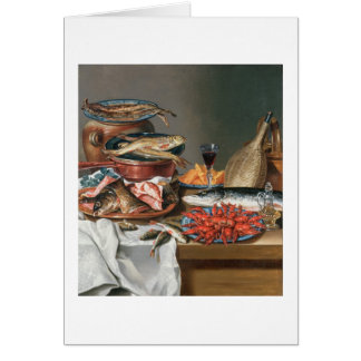 A Still Life of a Fish, Trout and Baby Lobsters, 1 Card