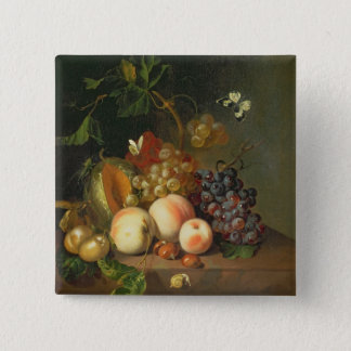 A Still Life on a Marble Ledge 2 Inch Square Button