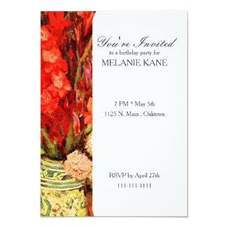 A Still Life With Red Gladiolas Card