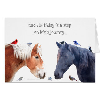 A stop on Life's Journey: Happy Birthday Card