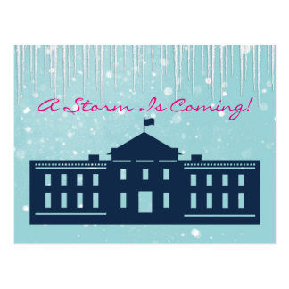 """A Storm is Coming"" With Snow & Whitehouse Postcard"
