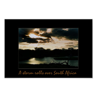 A Storm Rolls Over South Africa Poster