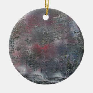 A stormy winter's night ceramic ornament