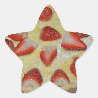 A strawberry cake star sticker