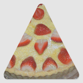 A strawberry cake triangle sticker