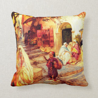 A Street in Algeria Throw Pillow