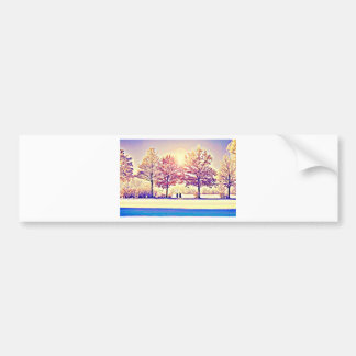A stroll in the woods bumper sticker
