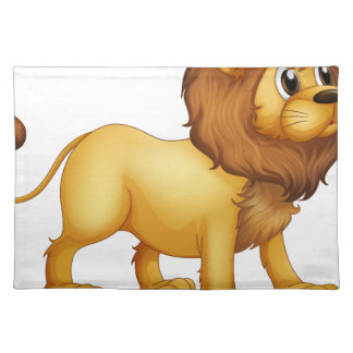 A strong lion placemat