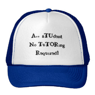 A++ Student No Tutoring Required Black & Blue Hat Trucker Hats