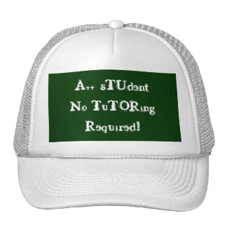 A++ Student No Tutoring Required Green & White Trucker Hat