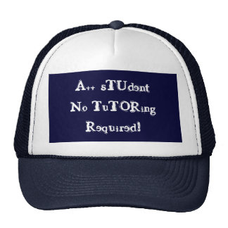 A++ Student No Tutoring Required Navy Hat Mesh Hat