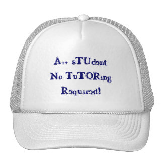 A++ Student No Tutoring Required Navy & White Hat Mesh Hats