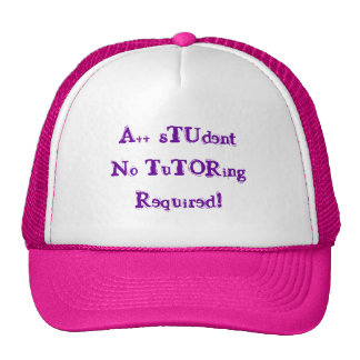 A++ Student No Tutoring Required Pink & Purple Hat Trucker Hats