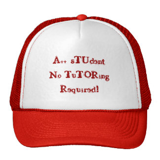 A++ Student No Tutoring Required Red & Black Hat Hat