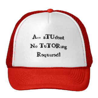 A++ Student No Tutoring Required Red & Black Hat