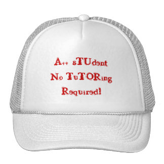 A++ Student No Tutoring Required Red & White Hat