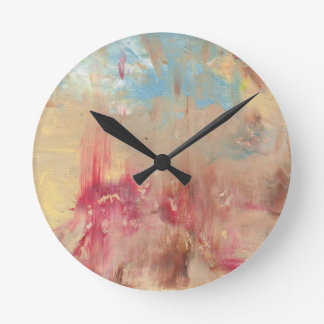 A Study in colour Round Clock