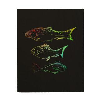a study in fish wood print