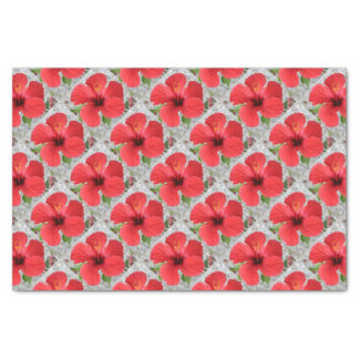 A Stunning Scarlet Hibiscus Tropical Flower Tissue Paper
