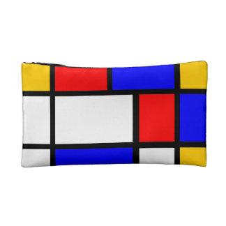 A style modern art Mondrian Cosmetics Bags