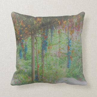 A Stylish Garden Scene Throw Pillow