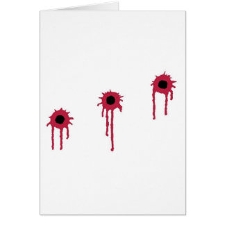 A successful deployment/BLOODY BULLET HOLES Greeting Card